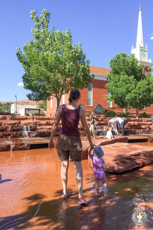 Wasserspass im Park von St. George