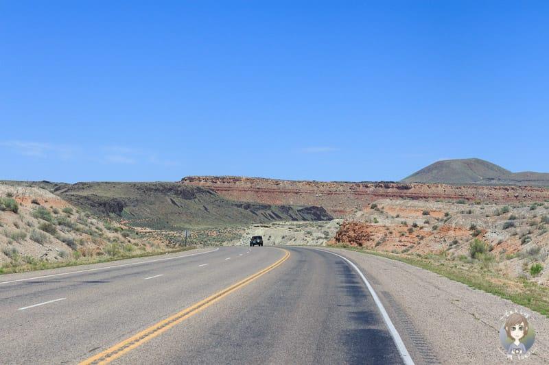 Fahrt über die UT-9 in Arizona