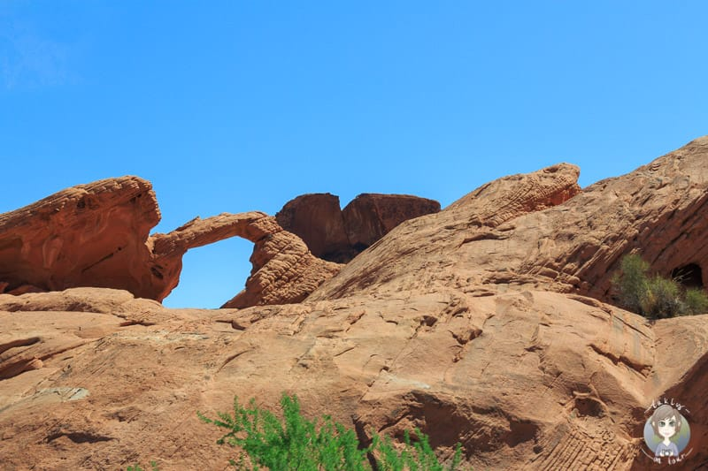 Der Arch Rock im Valley of Fire