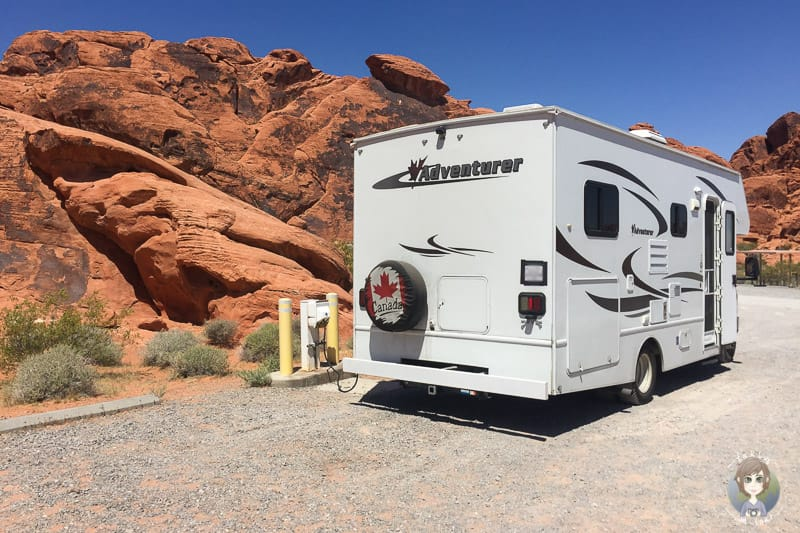 Camping vor Red Rocks im Valley of Fire
