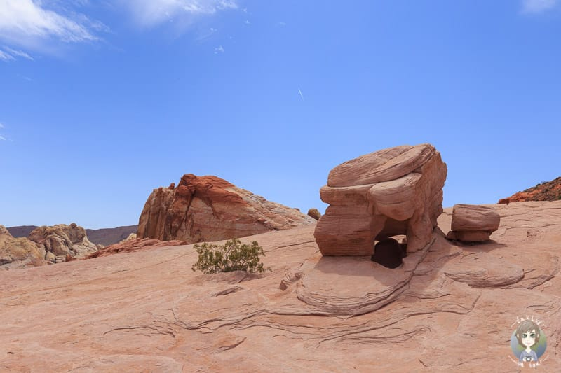 Interessante Felsformation im Valley of Fire State Park
