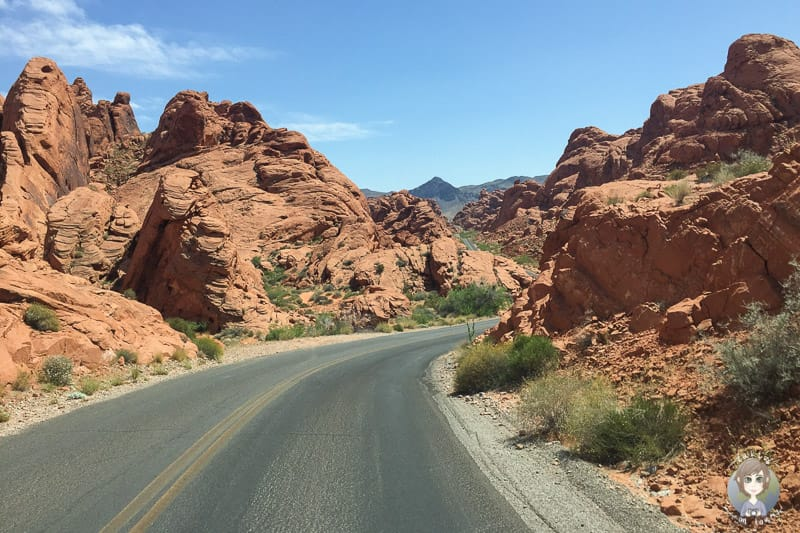 Die Panoramastrasse im Valley of Fire
