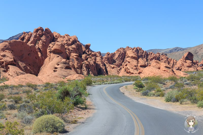 Rote Felsen im Valley of Fire