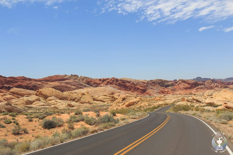 Der Scenic Byway im Valley of Fire State Park