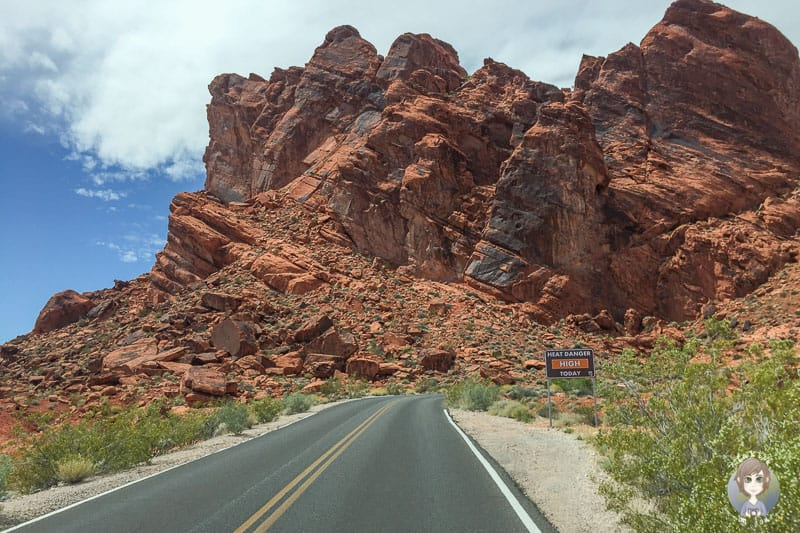 Start des Scenic Drive im Valley of Fire