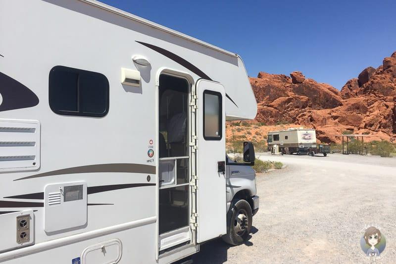 Unser Stellplatz auf dem  Atlatl Rock Campground