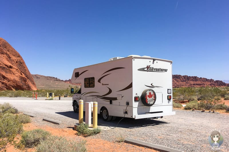 Strom auf einem Campingplatz im Valley of Fire