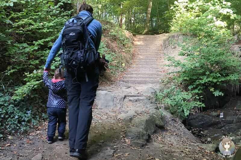 Der Besuch der Teufelsschlucht mit Kind