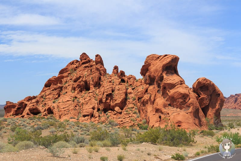 Rote Felsformationen Valley of Fire