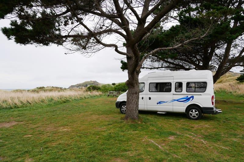 Aramoana Freedom Camping in Neuseeland