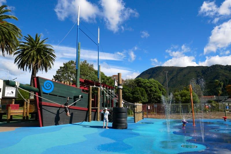 Ein Spielplatz in Picton Neuseeland