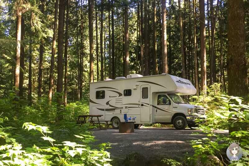 Übernachtung am Rolley Lake mit dem Camper in Kanada