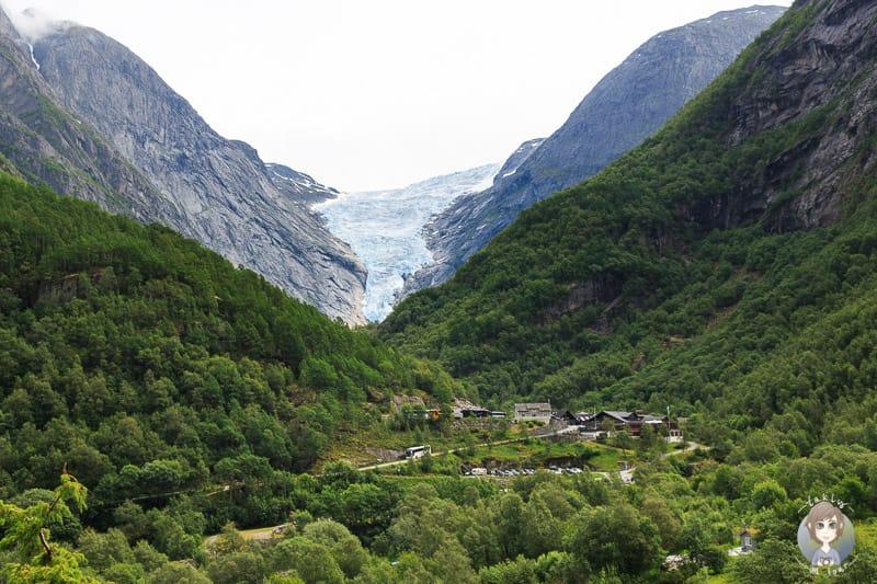 Wanderung zum Briksdalsbreen im jostedalsbreen Nationalpark