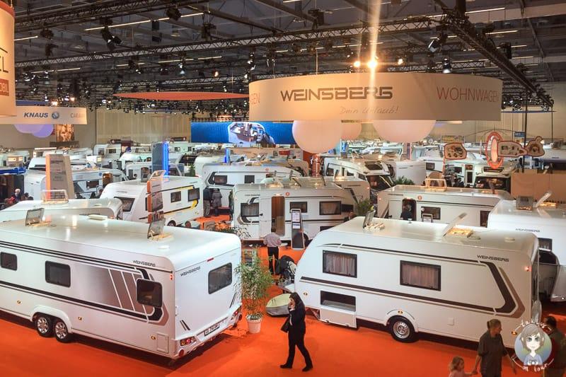 Knaus und Weinsberg Wohnwagen und Wohnmobile auf der CMT