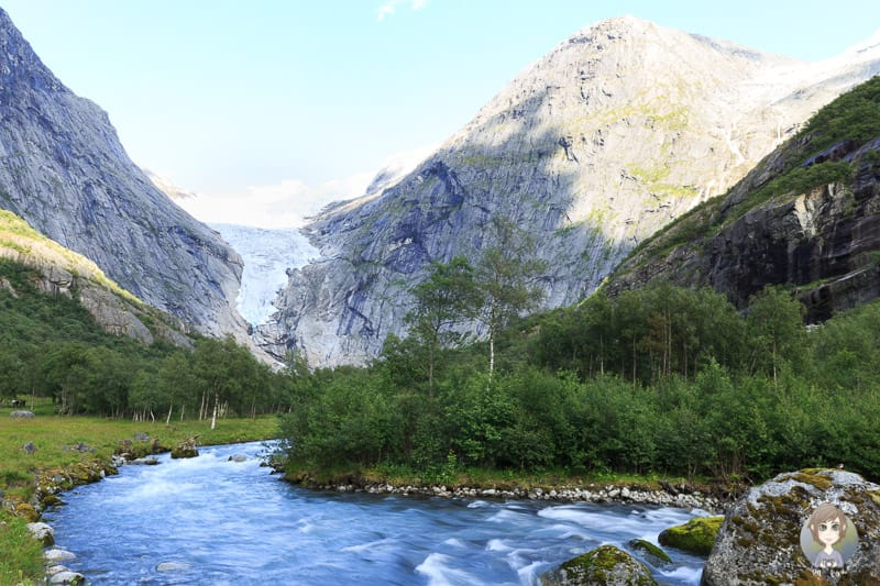 Fluss vom Briksdalsbreen