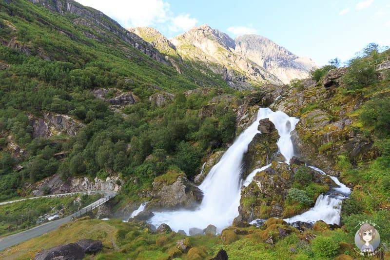 Der Kleivafossen im Jostedalsbreen Park