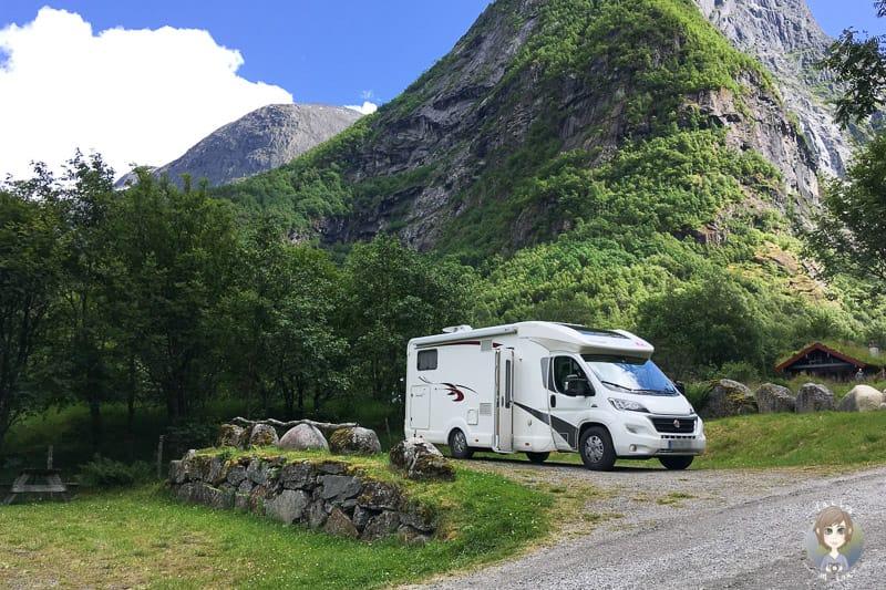 Wohnmobil auf dem Melkfull Bretun Camping