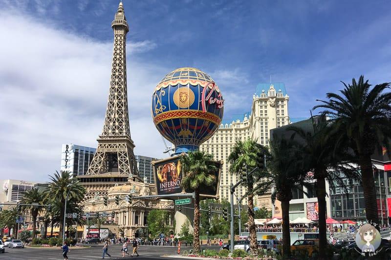 Blick auf das Hotel Paris in Las Vegas