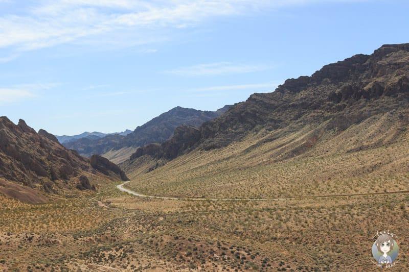 Die schöne Landschaft am Westausgang vom Valley of Fire State Park