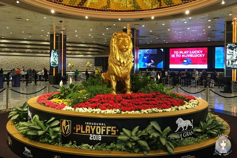 Der Löwe im Hotel MGN in Las Vegas