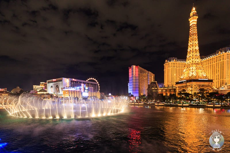 Die Wassershow am Abend in Las Vegas