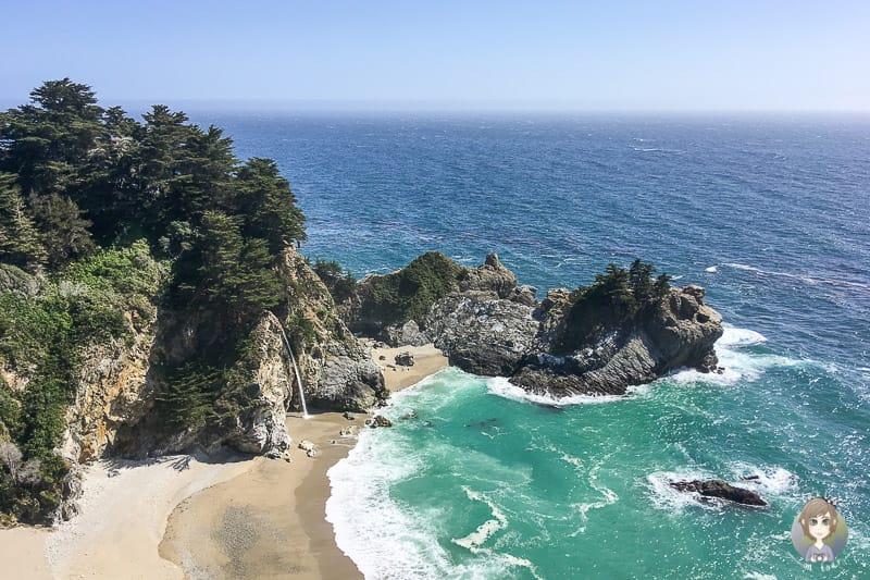 Blick auf das Meer in den USA eines der Reiseziele von Taklyontour