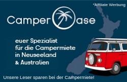 Günstig Camper mieten in Neuseeland mit Rabatt bei Camperoase