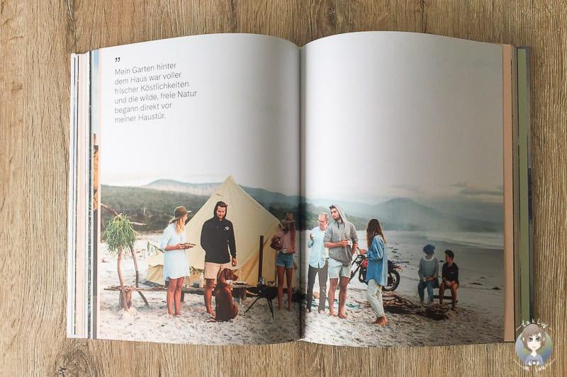 Tolle Fotos und vielsagende Zitate im Bildband Homecamp vom DuMont Verlag