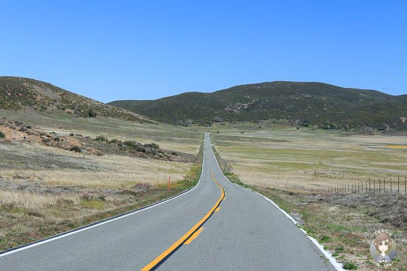 Fahrt über den Sunrise Highway Richtung Mount Laguna