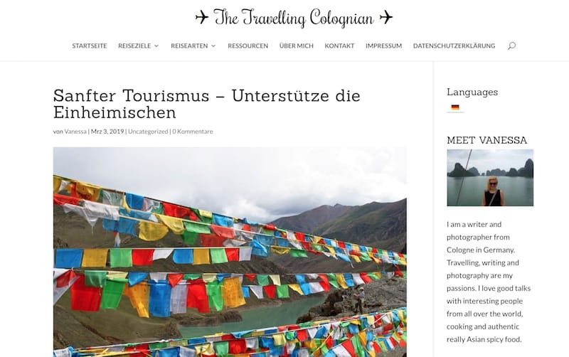 Screenshot von The Travelling Colognian - Sanfter Tourismus