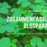 Nachhaltigkeit, Overtourismus & Gedanken: Blogparaden-Zusammenfassung