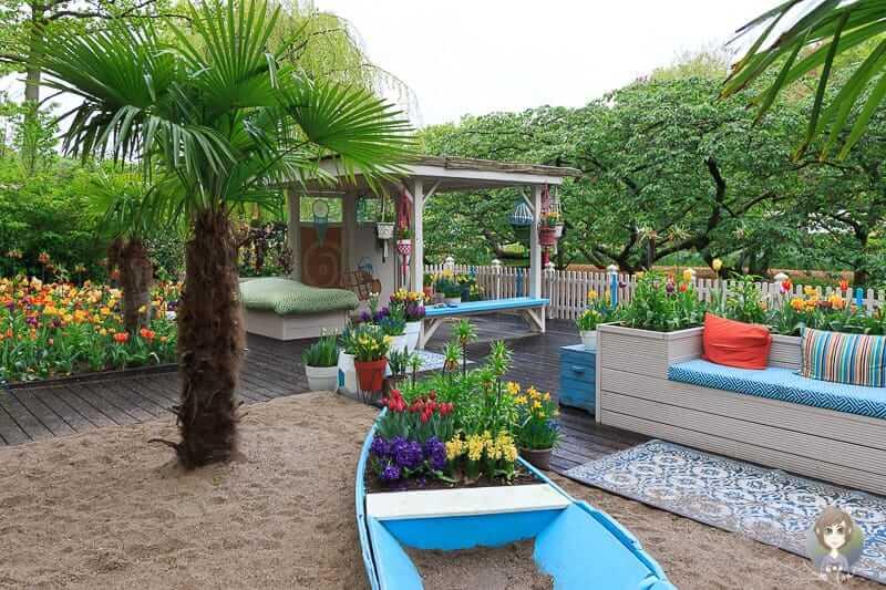 Der Ibiza-Lifestyle Garten im Keukenhof einem Blumenpark in Holland
