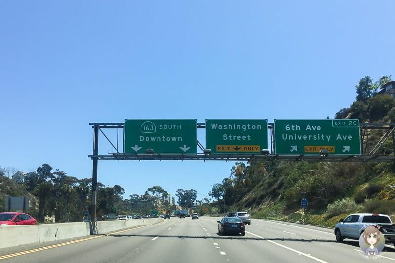 Auf der Interstate nach San Diego