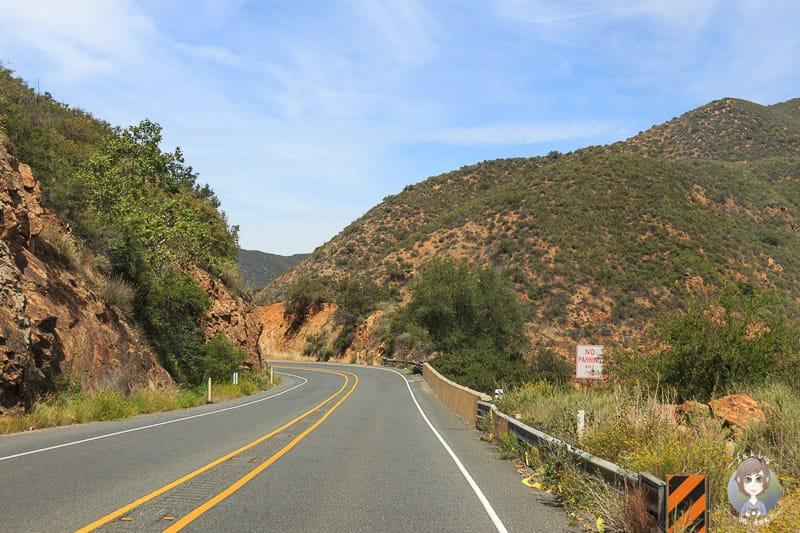 Fahrt über den Ortega Highway in Kalifornien