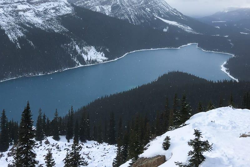 Peyto Lake Kanada Schnee