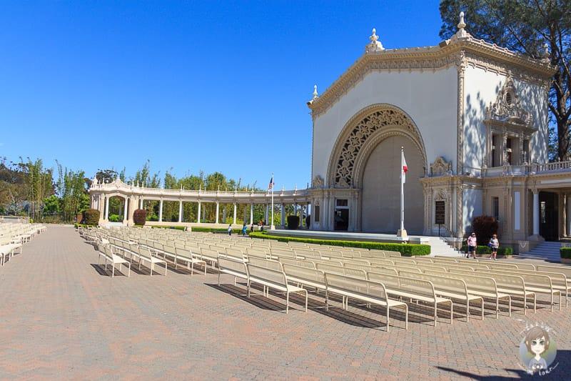Ein schöner Veranstaltungsort im Balboa Park in San Diego