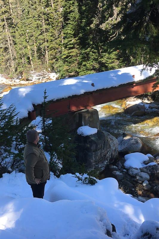Wanderung Schnee Kanada Nebensaison