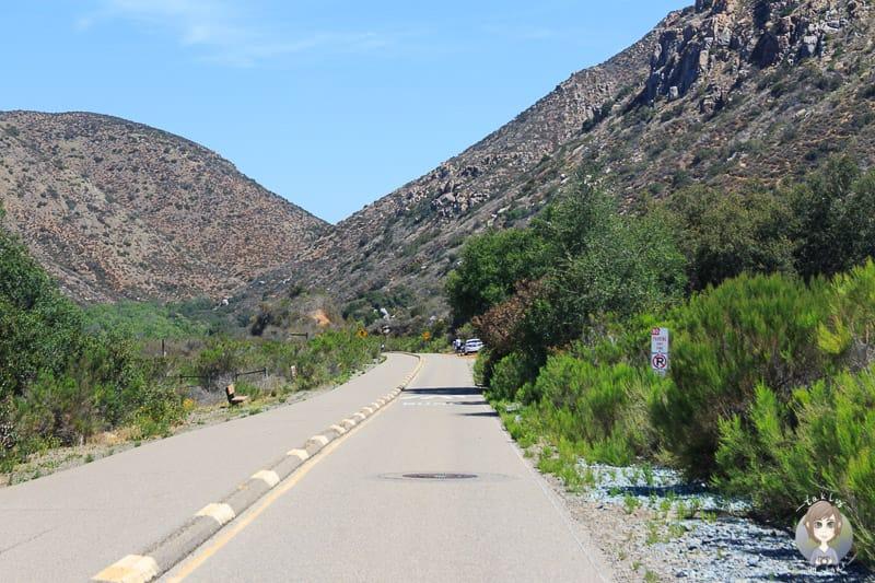 Die Zufahrt zum Mission Trails Regional Park nahe San Diego