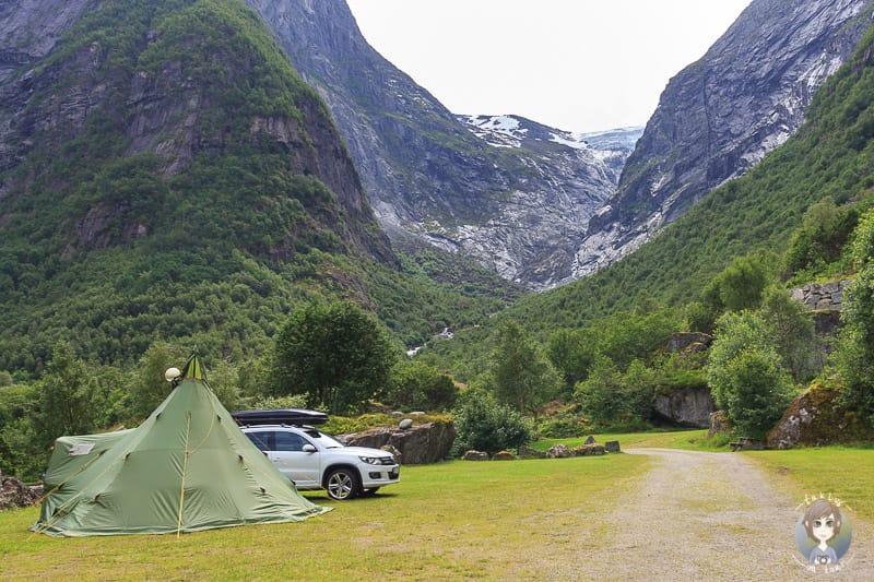 Camping mit Kindern im Zelt