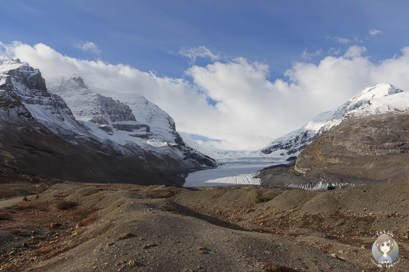 Athabasca Glacier am Icefields Parkway in Alberta
