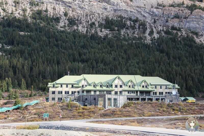 Das Icefield Centre am Icefields Parkway in Kanada
