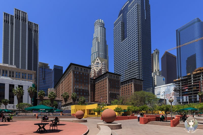 Blick auf den Pershing Square in Los Angeles