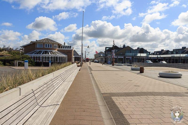 Das Stadtzentrum von Søndervig