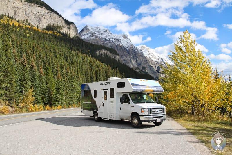 Mit dem Wohnmobil über den Icefields Parkway in Kanada