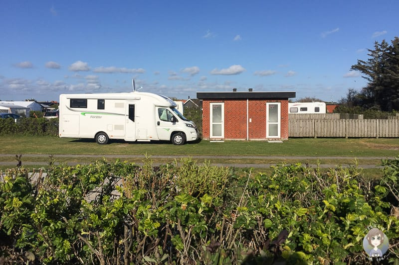 Wohnmobilstellplatz mit privatem Bad Sondervig Camping