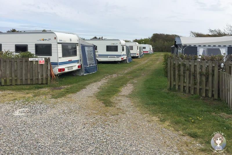 Wohnwagen auf dem Sondervig Camping