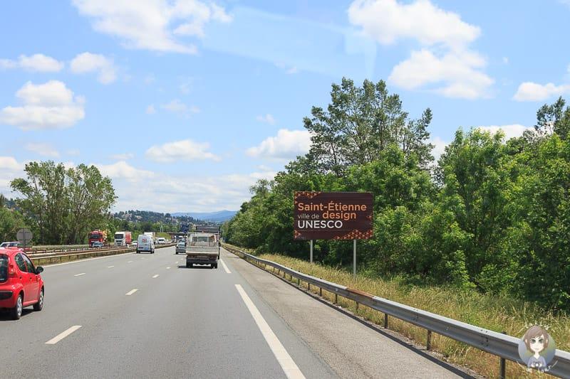 Eine Autobahn der Loire in Frankreich