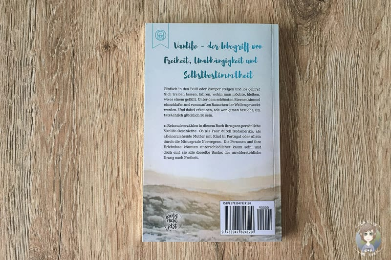 Rückseite vom Abenteuer Vanlife Reisebuch