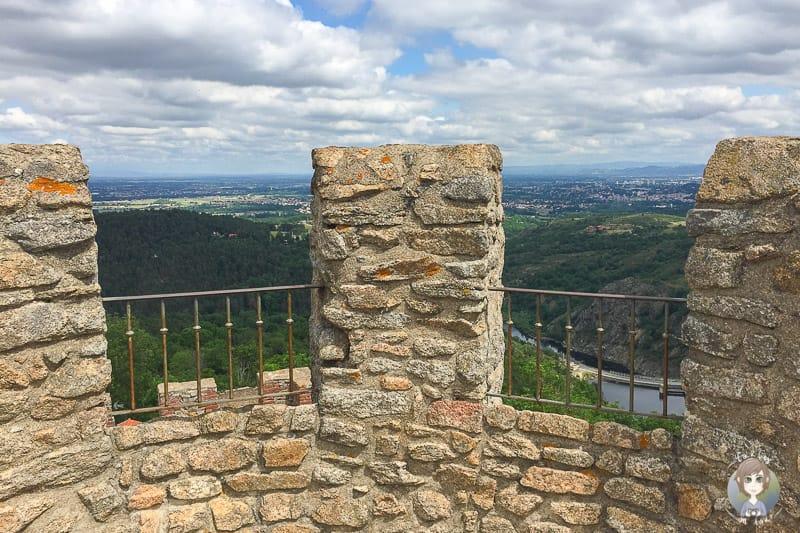 Ausblick vom Chateau d'Essalois