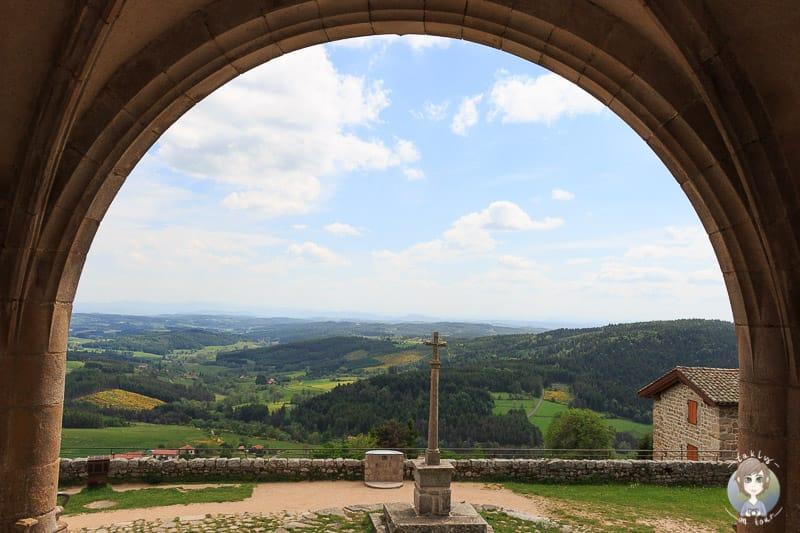 Ausblick von der Kirche in Montarcher